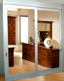 Heritage Grooved 1 panel sliding door with mirror insert